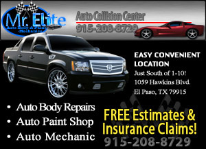 We do dent repair, hail damage repair, collision repair and much more for our El Paso car owners.